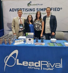 Chris, Bria, Sarah and Brian at the LeadRival Booth - AAJ Conference