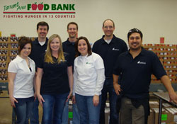 We volunteered at a Texas food bank for the Holidays